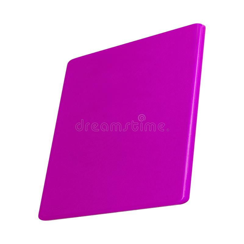 Plastic cutting board isolated on white royalty free stock images