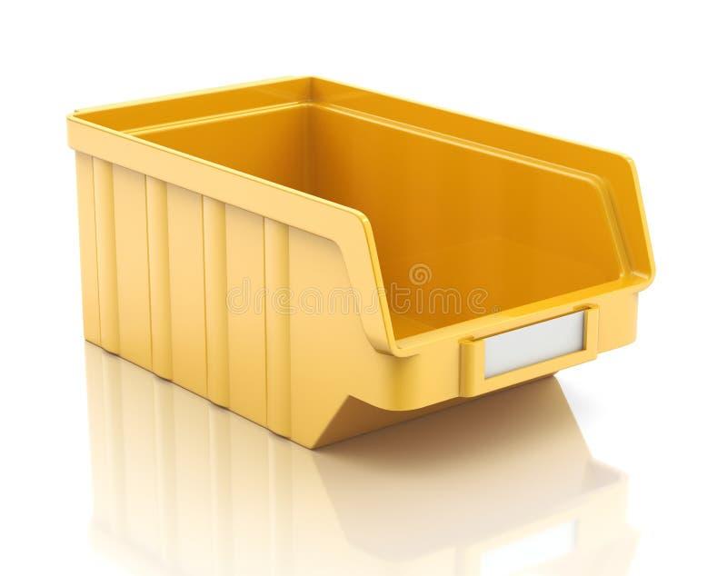 Plastic delenbak royalty-vrije illustratie