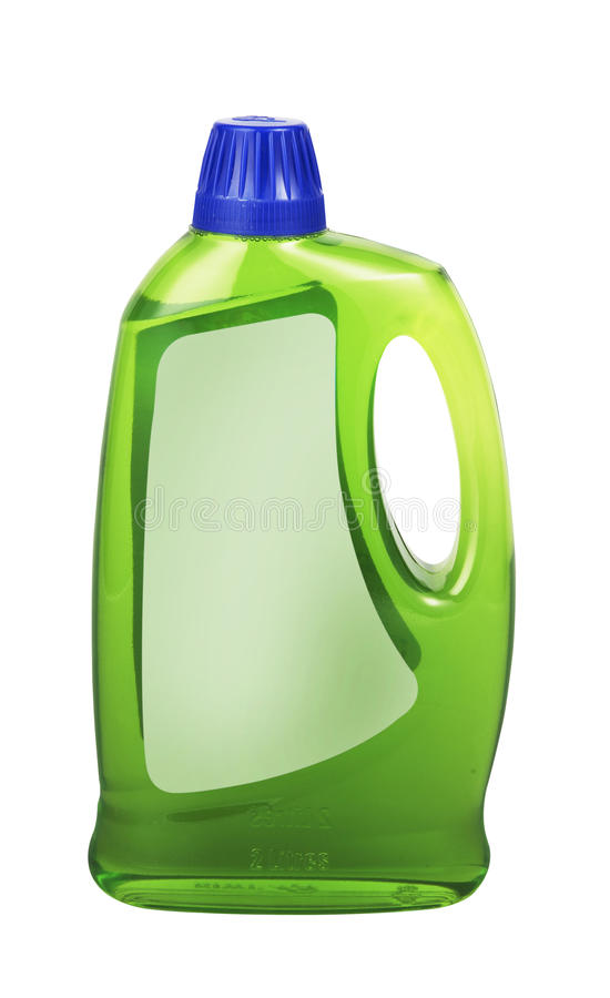 Plastic detergent bottle stock image