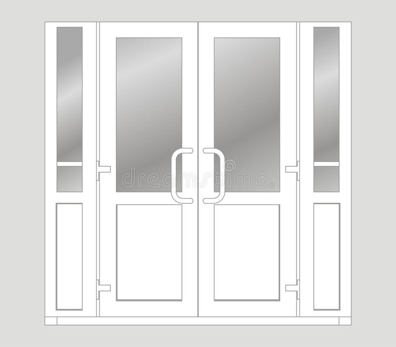 Plastic deur stock illustratie
