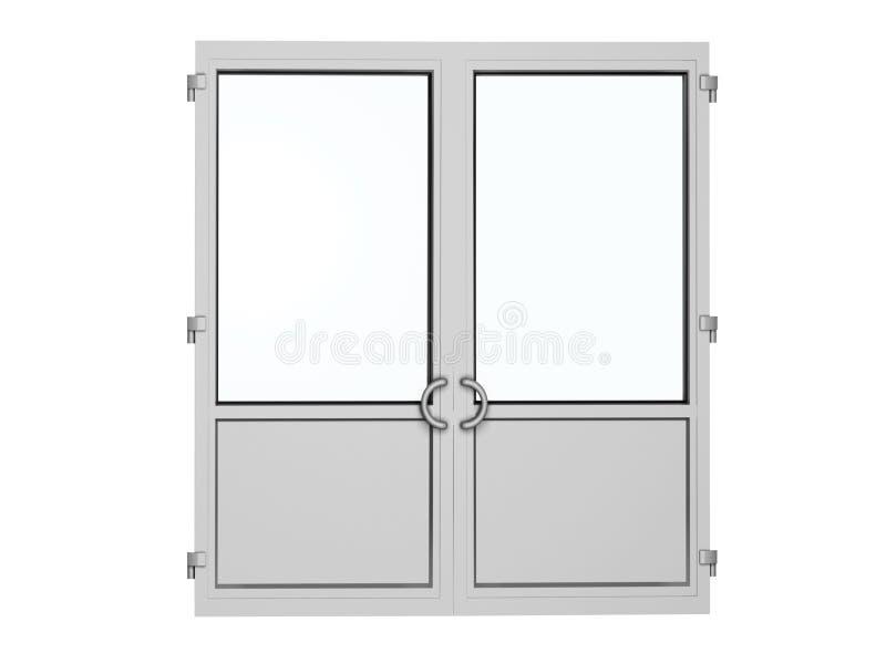 Plastic deur vector illustratie