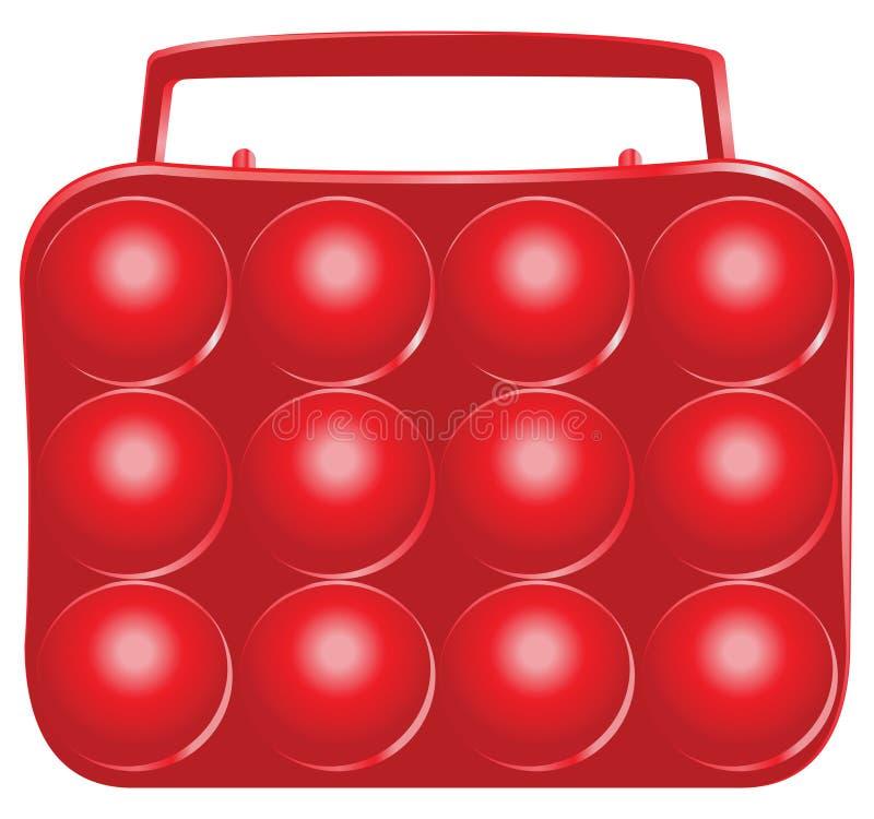 Plastic dienblad voor eieren stock illustratie