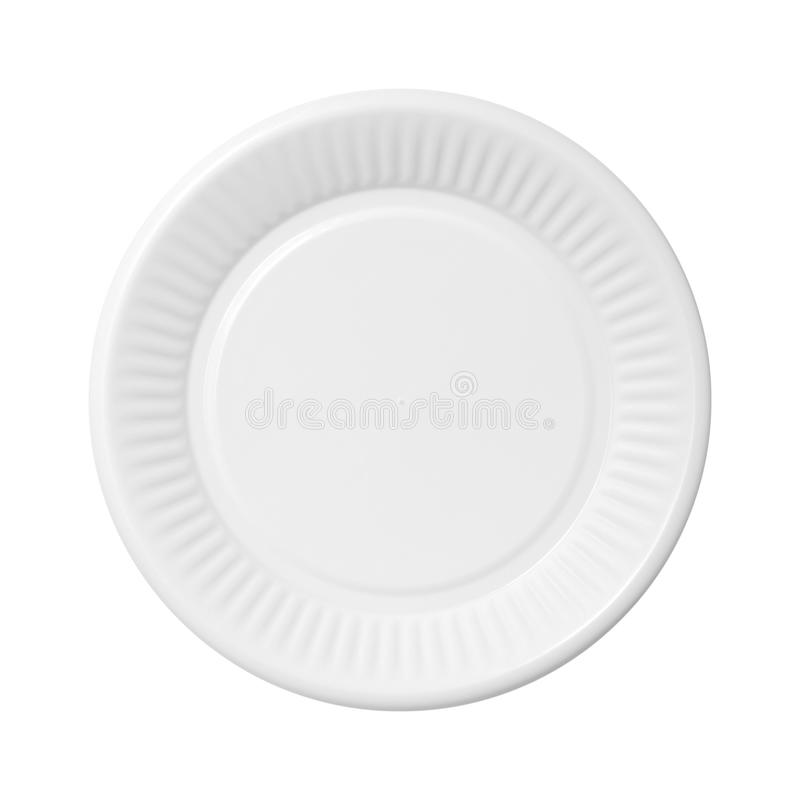 Plastic dish. Plastic picnic dish isolated on white background stock photography