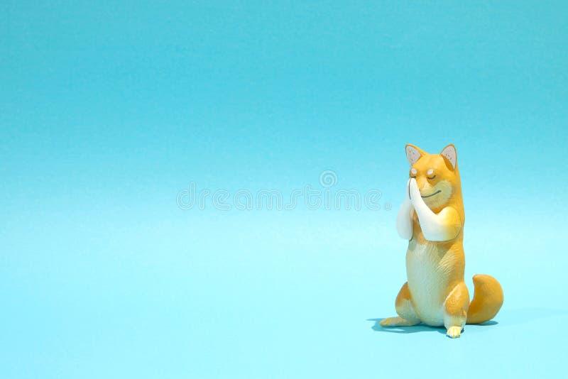 Plastic dog doll stock photo
