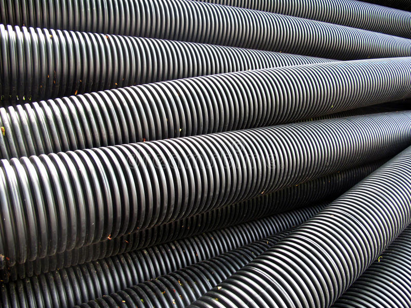 Download Plastic Drainage Pipes stock image. Image of industry - 14696873
