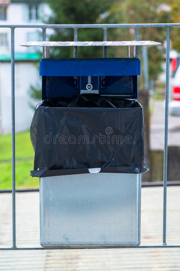 Plastic dust bin royalty free stock photo
