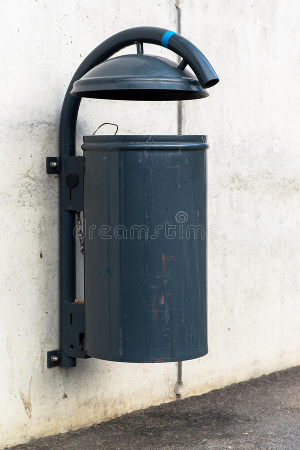 Plastic dust bin stock photography