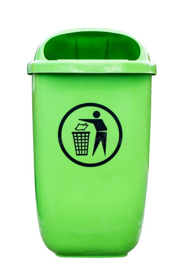 Plastic dust bin royalty free stock photography