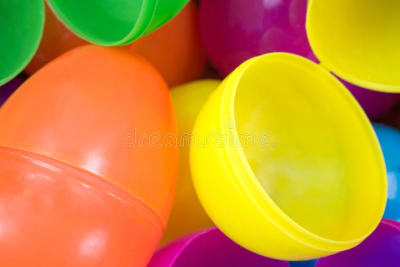 Download Plastic Easter Eggs Close View Stock Photo - Image of open, hunt: 40013866