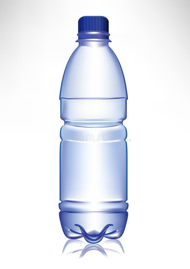 plastic enkelt litet vatten för flaska vektor illustrationer
