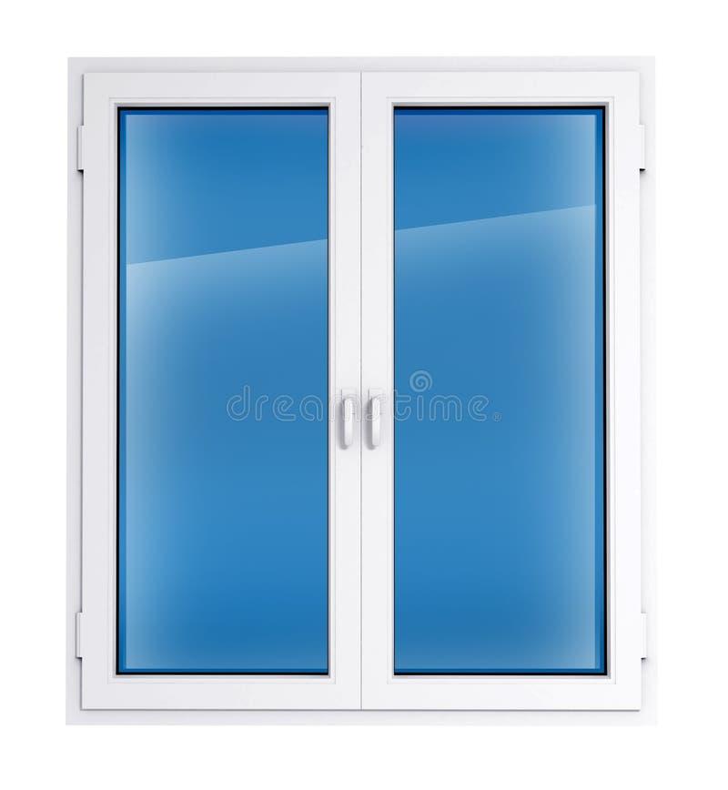 plastic fönster royaltyfria bilder