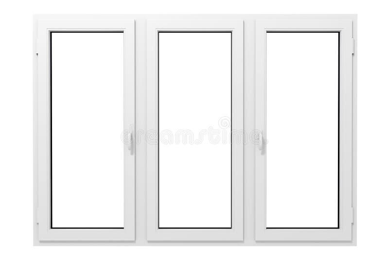 plastic fönster royaltyfri fotografi