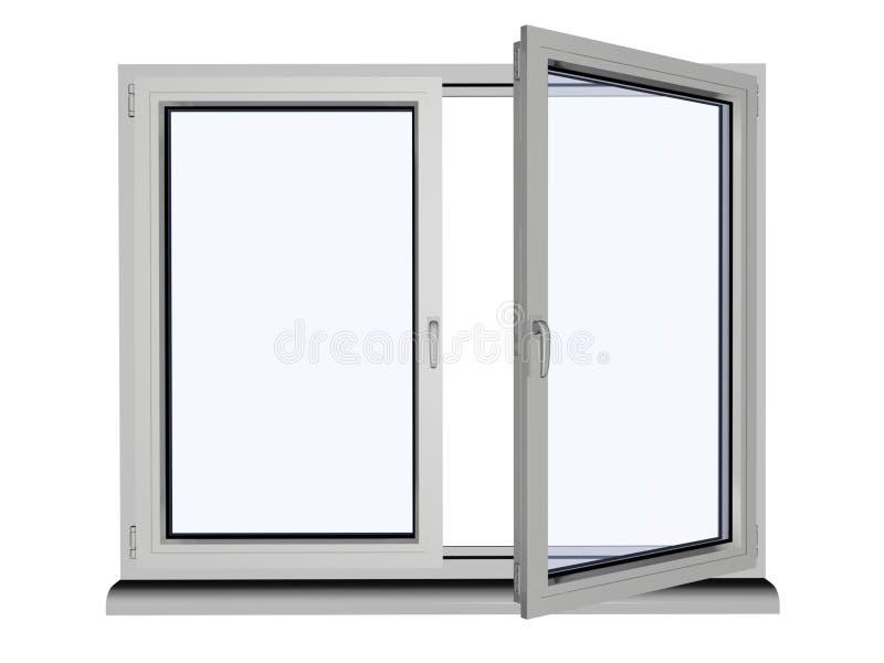 plastic fönster arkivbilder