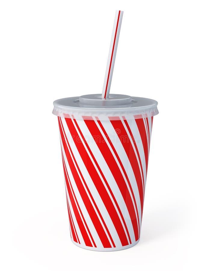 Plastic fastfood cup. 3d render royalty free illustration