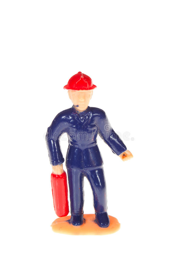 Plastic Fireman Royalty Free Stock Image