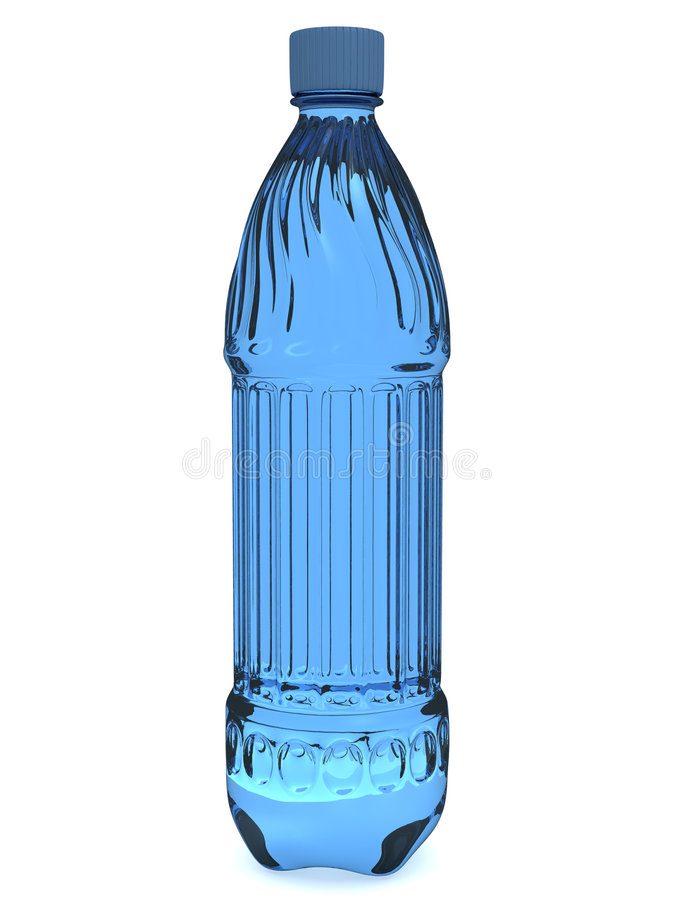 Plastic fles vector illustratie