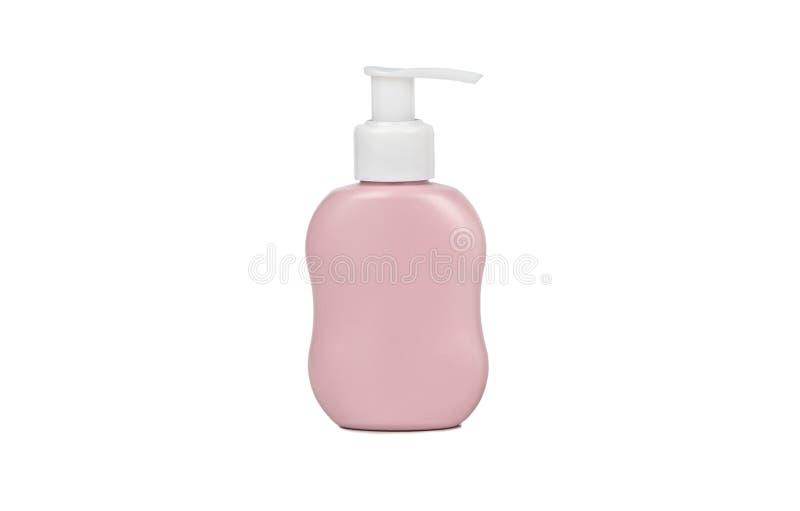 Plastic fles met automaat stock afbeelding