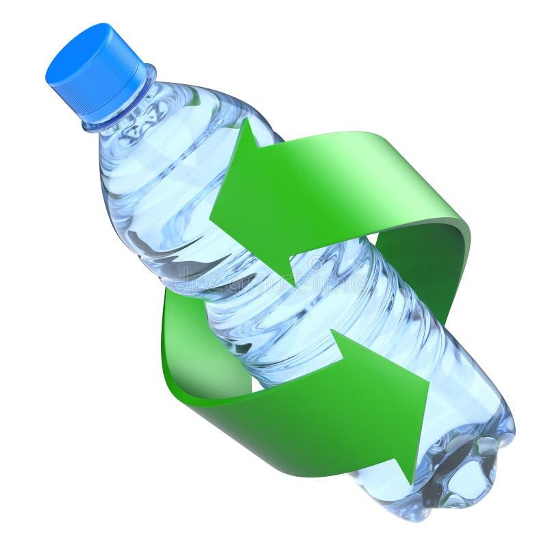 Plastic fles recyclingsconcept stock illustratie