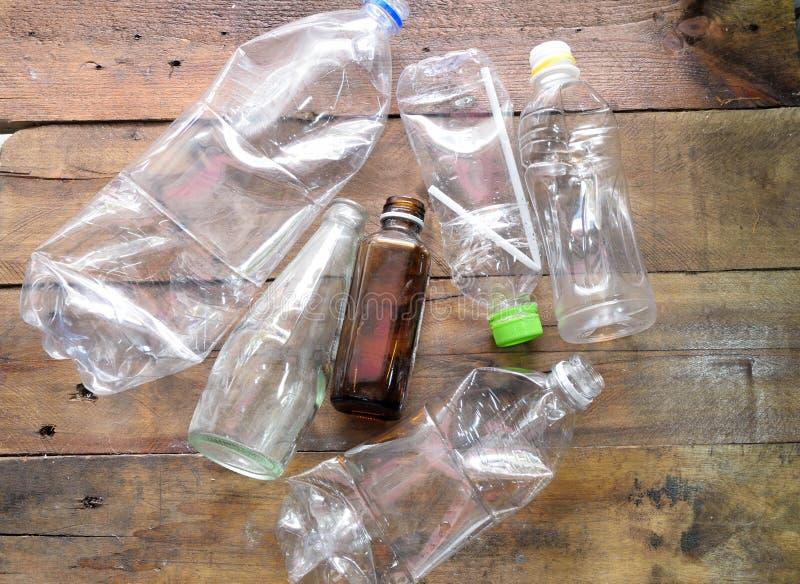 plastic fles recyecle royalty-vrije stock foto