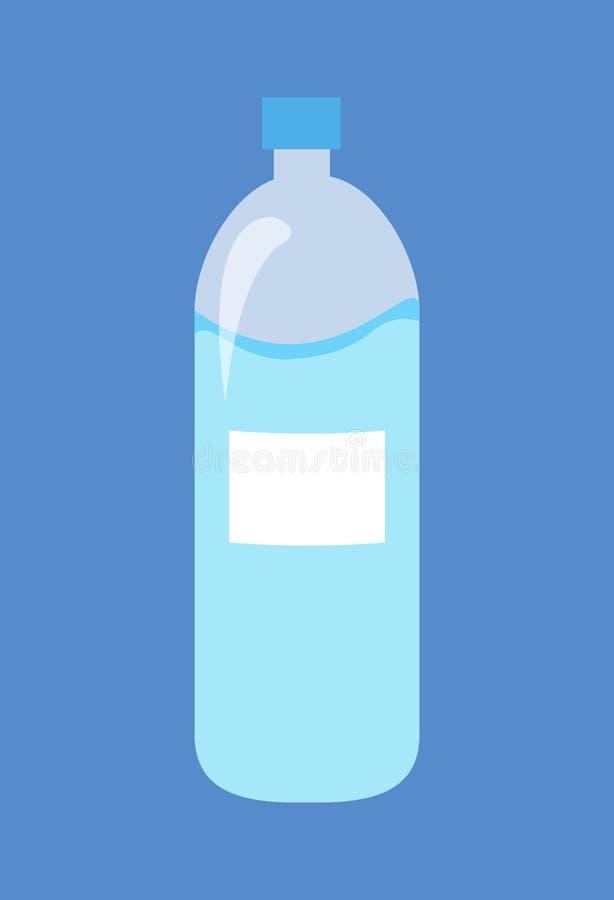 Plastic Fles Water Geïsoleerde Illustratie royalty-vrije illustratie