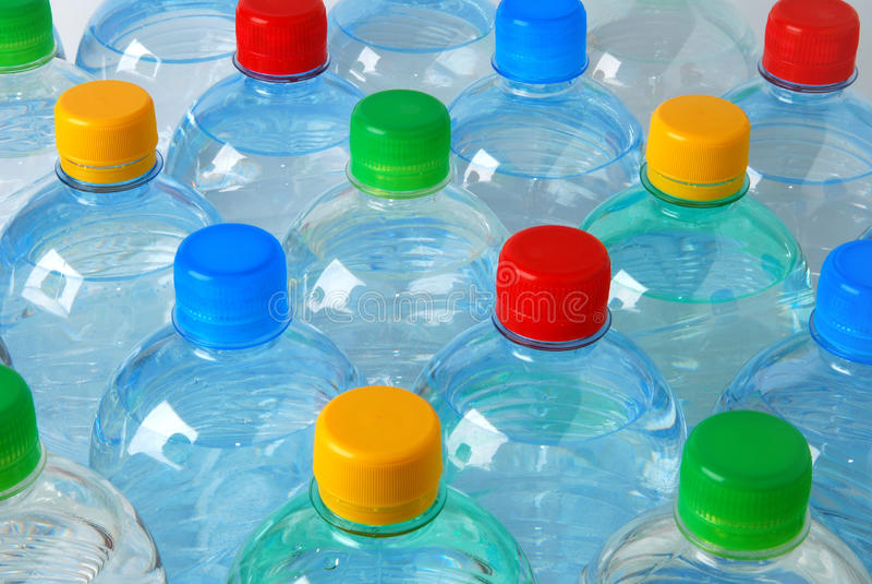 Plastic flessen stock fotografie