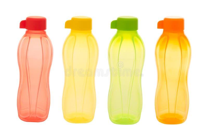 Plastic flessen stock foto