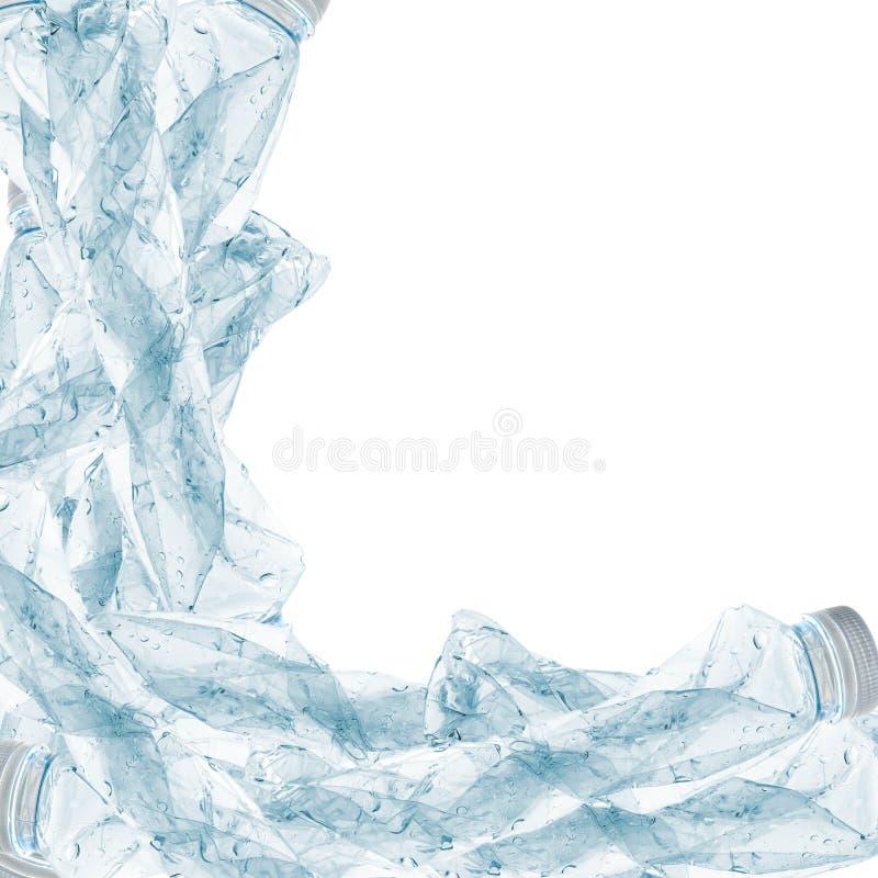 Plastic flessen die kunnen worden gerecycleerd stock foto's