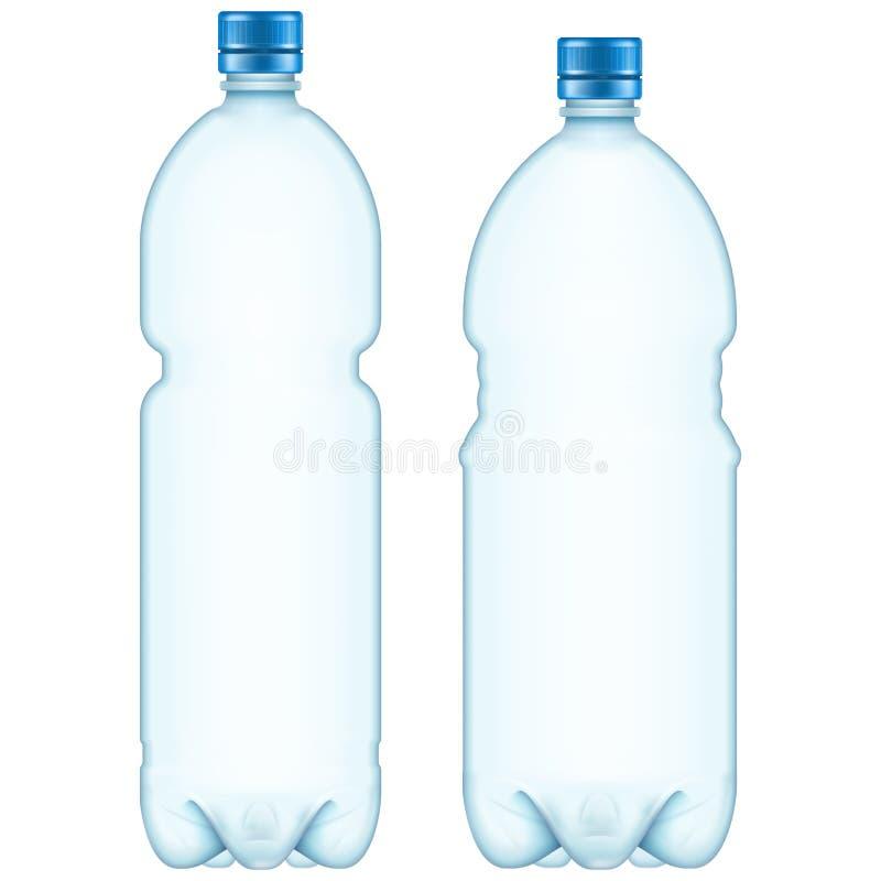 Plastic flessen Eps 10 vector illustratie