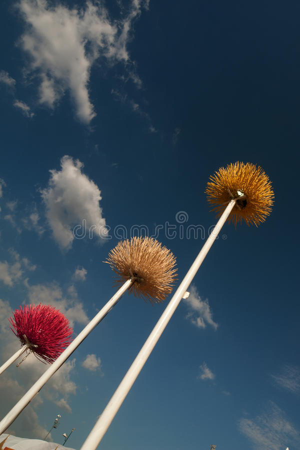 Download Plastic Flower On The Pole . Stock Image - Image of fresh, plant: 22546139