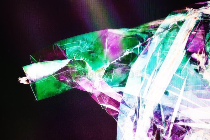 Plastic Foil in polarized Light royalty free stock image
