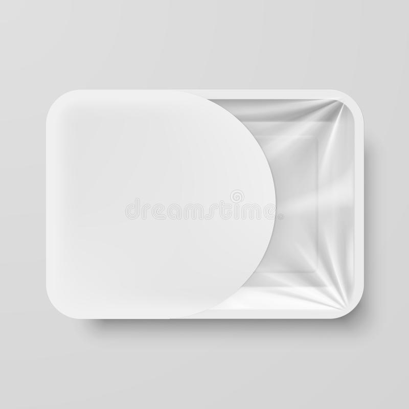 Plastic Food Container vector illustration