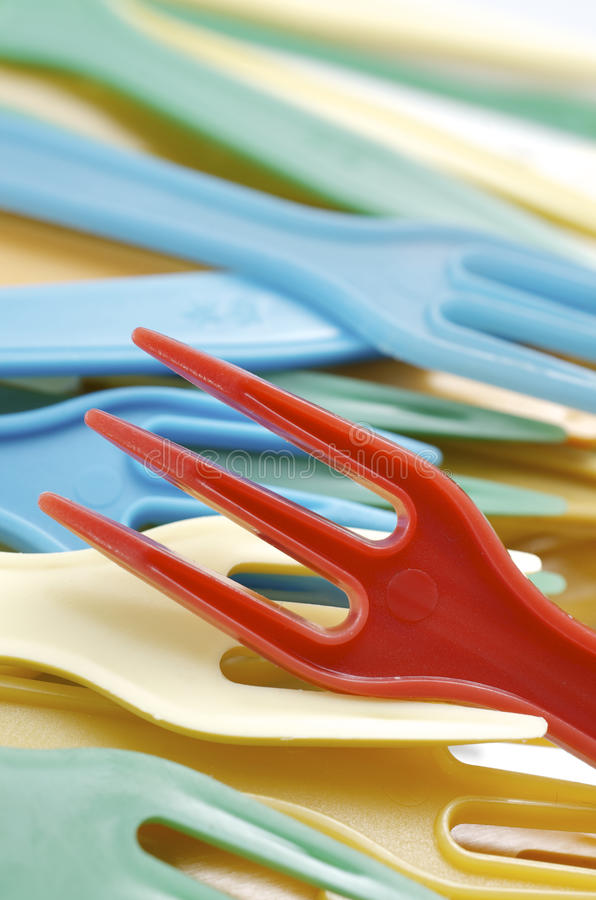 Free Plastic Forks Royalty Free Stock Photography - 22075417