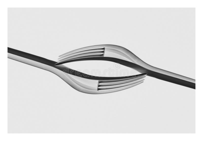 Plastic forks - close up - fine art royalty free stock images