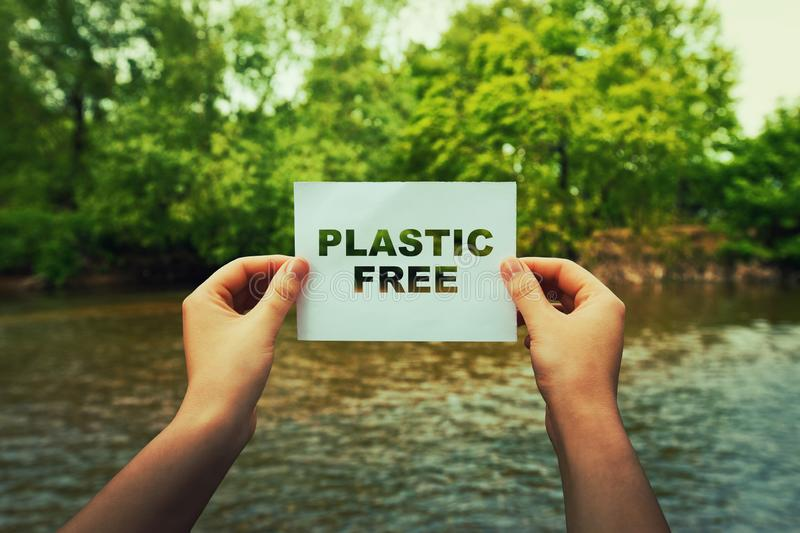 Plastic free zone royalty free stock photography