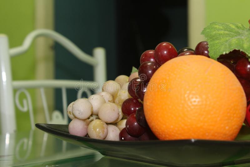 Plastic Fruits royalty free stock images