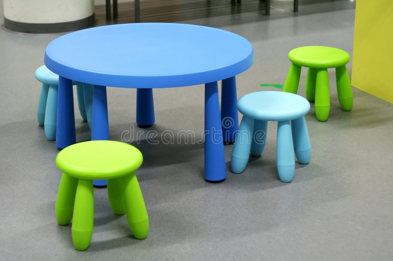 Plastic furniture royalty free stock images