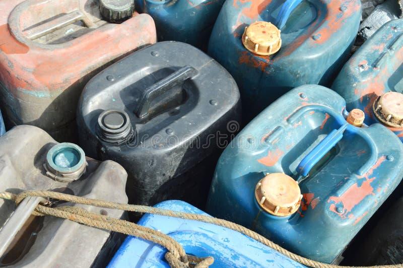 Plastic gallon stock foto's