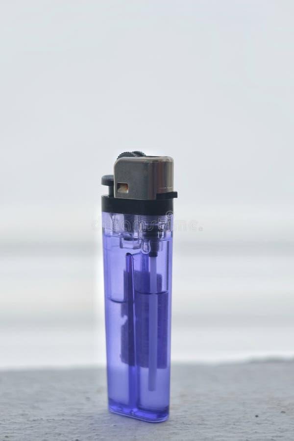 Plastic gas lighter for cigarette smoker. stock image