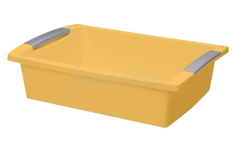 Plastic geïsoleerd bassin vector illustratie