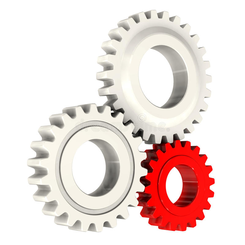 Plastic gears royalty free stock photos