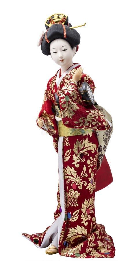 Plastic geishapop royalty-vrije stock fotografie