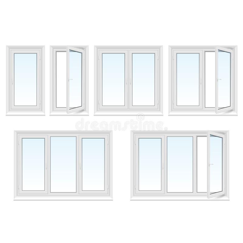 Plastic geplaatste vensters royalty-vrije illustratie