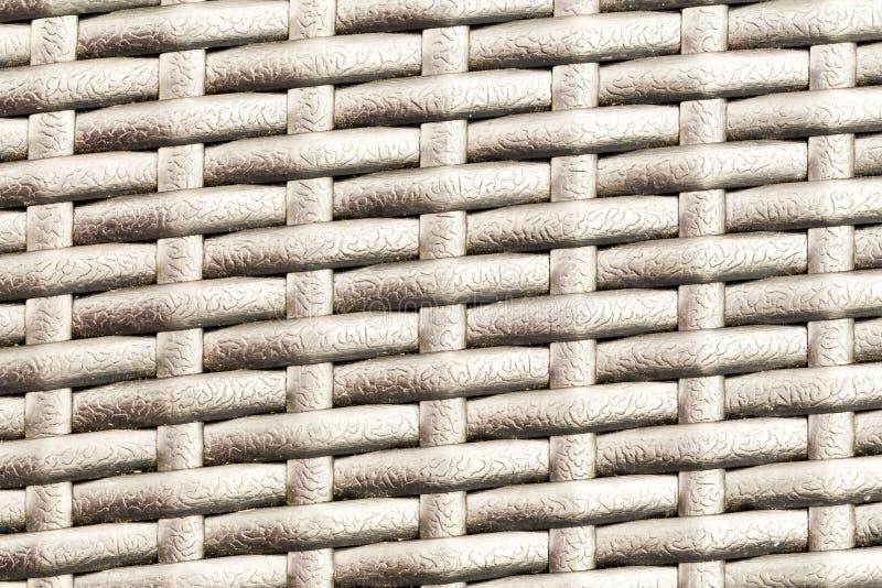 Plastic gestreepte geweven textuur stock foto's