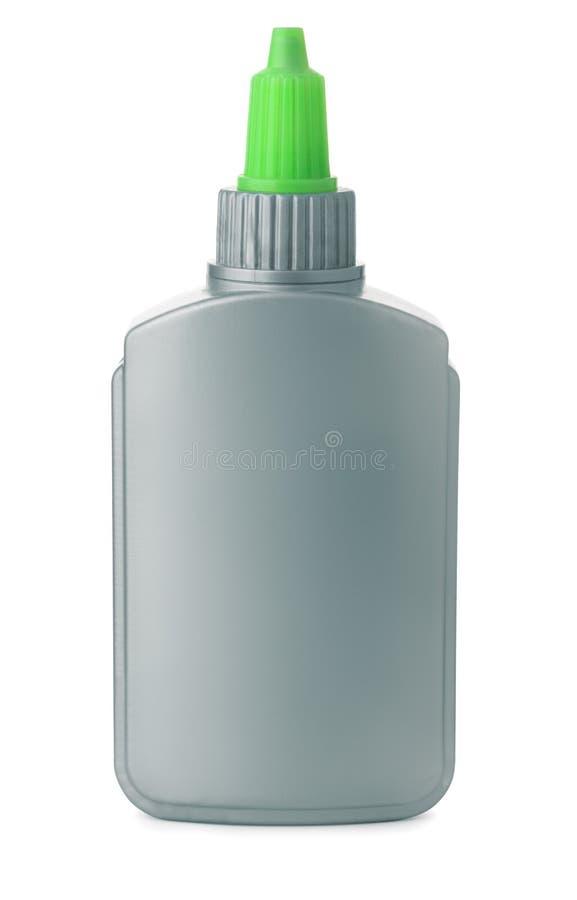 Plastic glue bottle royalty free stock photo
