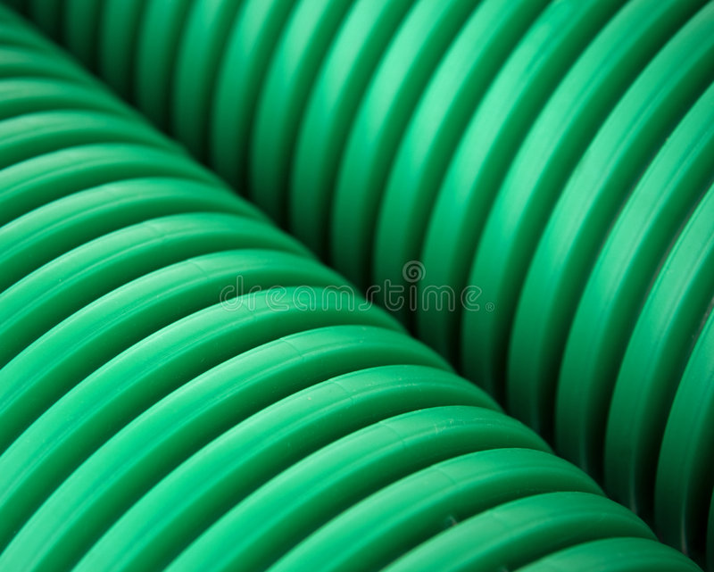 plastic gröna rør arkivbilder