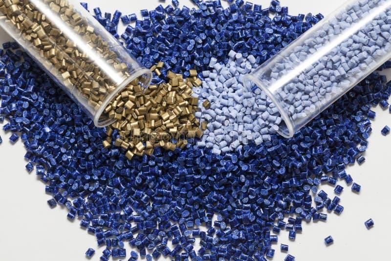 Plastic granules close up royalty free stock photos