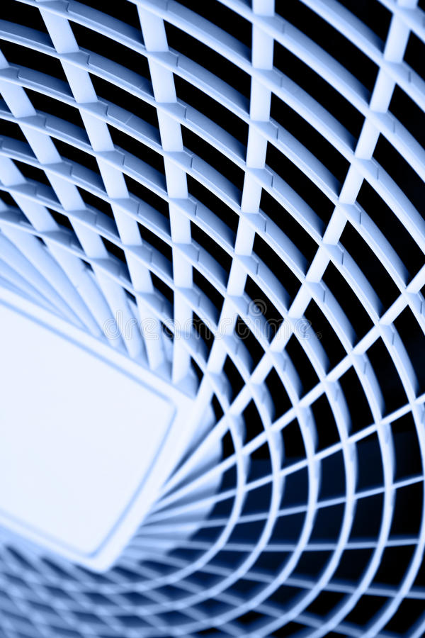 Plastic grate. May be used as abstact background. Blue toned royalty free stock photography