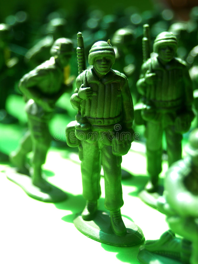 Plastic green army 2. A photo of plastic green army man royalty free stock photo