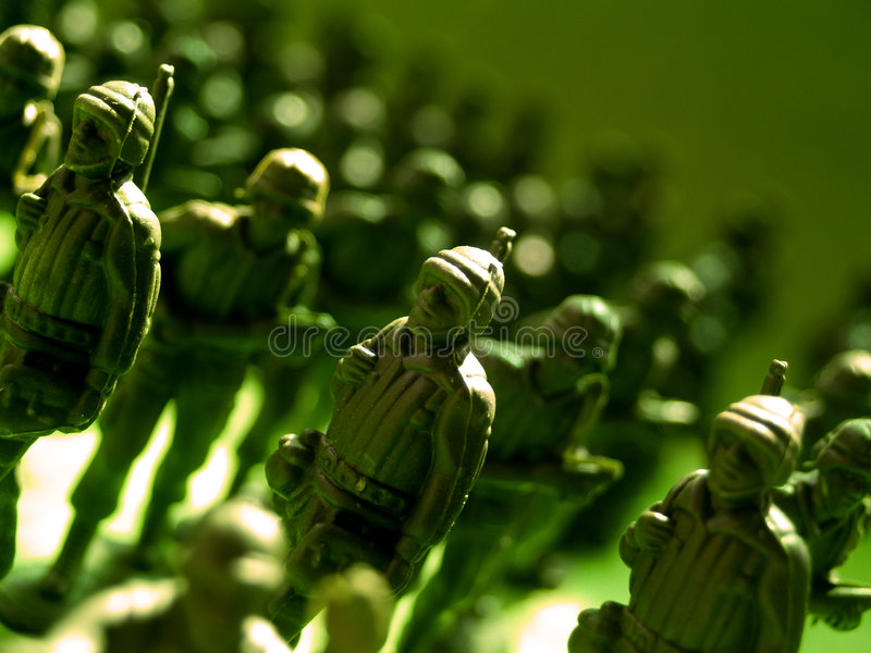 Plastic green army 3 royalty free stock images
