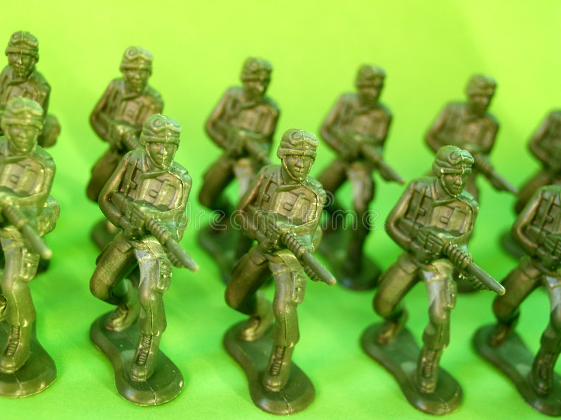 Plastic green army 6. A photo of plastic green army man royalty free stock photography
